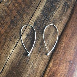 Stella and Dot Small Hammered Hoops-silver